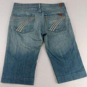 7 for All Mankind Dojo Bermuda Cropped Jeans